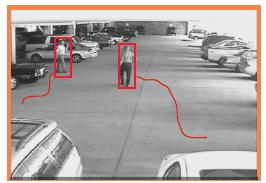 Surveillance video classification step