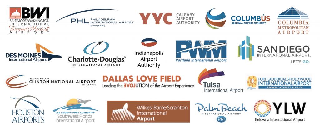 CheckVideo ExitSentry airport logos