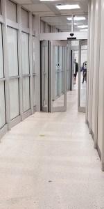Houston Airport IAH Exit Lane